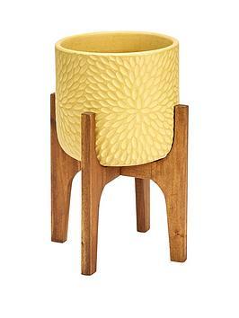 petal-print-pot-on-wooden-legs-soft-lemon