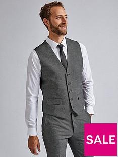 burton-menswear-london-burton-large-birdseye-skinny-waistcoat-grey