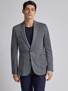 burton-menswear-london-pique-blazer-grey