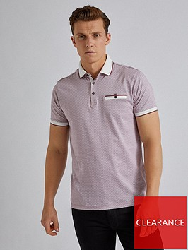burton-menswear-london-burton-geo-print-polo-shirt-pink