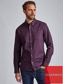 burton-menswear-london-burton-long-sleeve-mini-check-shirt-burgundy