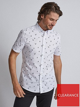 burton-menswear-london-burton-short-sleeve-bird-print-shirt-white