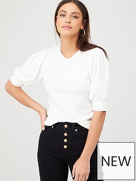 v-by-very-puff-sleeve-t-shirt-ivory