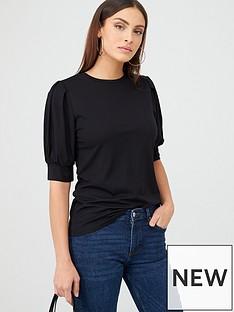 v-by-very-puff-sleeve-t-shirt-black