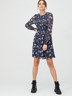 v-by-very-smocked-balloon-mesh-sleeve-dress-lilacfloral