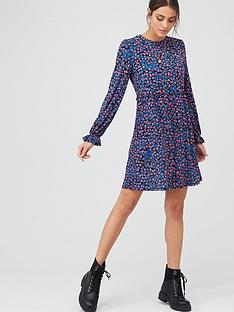 v-by-very-frill-detail-smock-mini-dress-ditsy