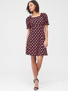 v-by-very-puff-sleeve-mini-dress