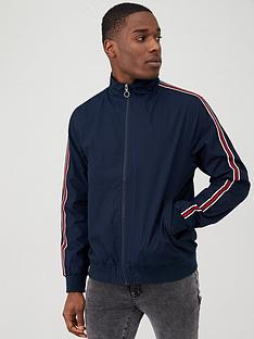 v-by-very-side-tape-cotton-harrington-jacket-navy