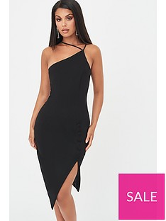 lavish-alice-strappy-asymmetric-split-side-dress-black