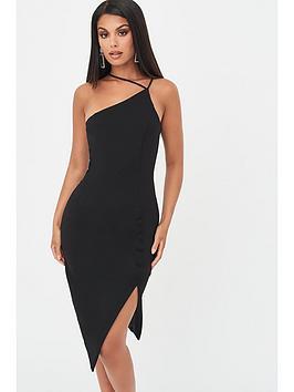 lavish-alice-strappy-asymmetric-split-side-dress-black