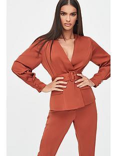 lavish-alice-belted-button-detail-jacket-brown