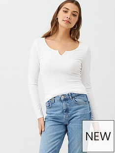 v-by-very-the-essential-notch-neck-long-sleeve-rib-top-white