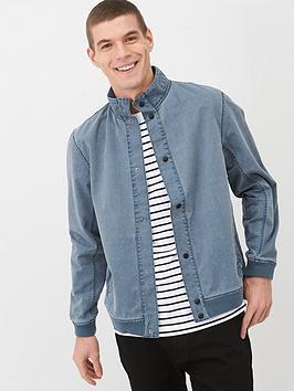 v-by-very-funnel-neck-harrington-jacket-blue