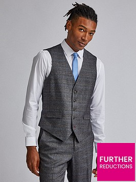 burton-menswear-london-burton-check-tailored-suit-waistcoat-grey
