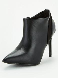wallis-mix-material-pointed-shoe-boots-black