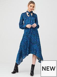 v-by-very-burnout-printed-midi-dress-print