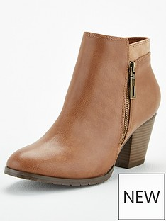 wallis-side-zip-casual-ankle-boots-camel