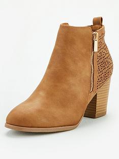 wallis-wide-fit-side-zip-ankle-boots-camel