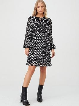 v-by-very-pleated-spot-tunic-spot