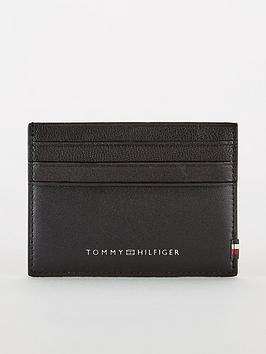 tommy-hilfiger-contrast-panel-leather-card-holder-black