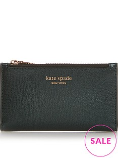 kate-spade-new-york-sylvia-slim-bifold-metallic-purse-green