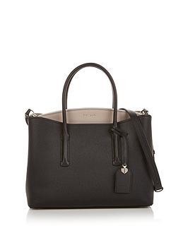 kate-spade-new-york-margaux-large-satchel-two-tone-shoulder-bag-blackgrey
