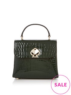 kate-spade-new-york-romy-croc-embossed-top-handle-cross-body-bag-green