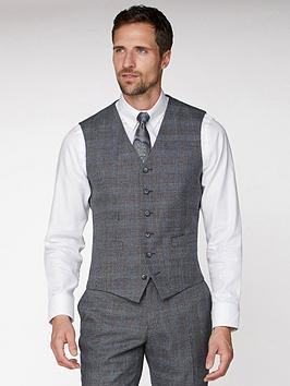 jeff-banks-jeff-banks-jaspe-check-soho-waistcoat-in-modern-regular-fit-grey
