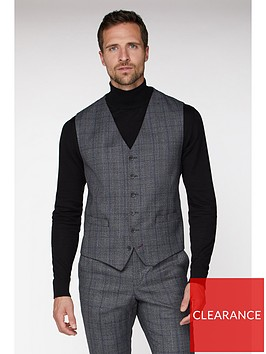 jeff-banks-jeff-banks-check-ivy-league-waistcoat-in-slim-fit-grey