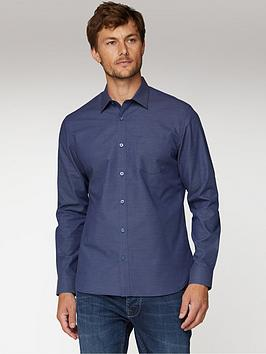 jeff-banks-micro-dobby-tailored-fit-shirt-navy