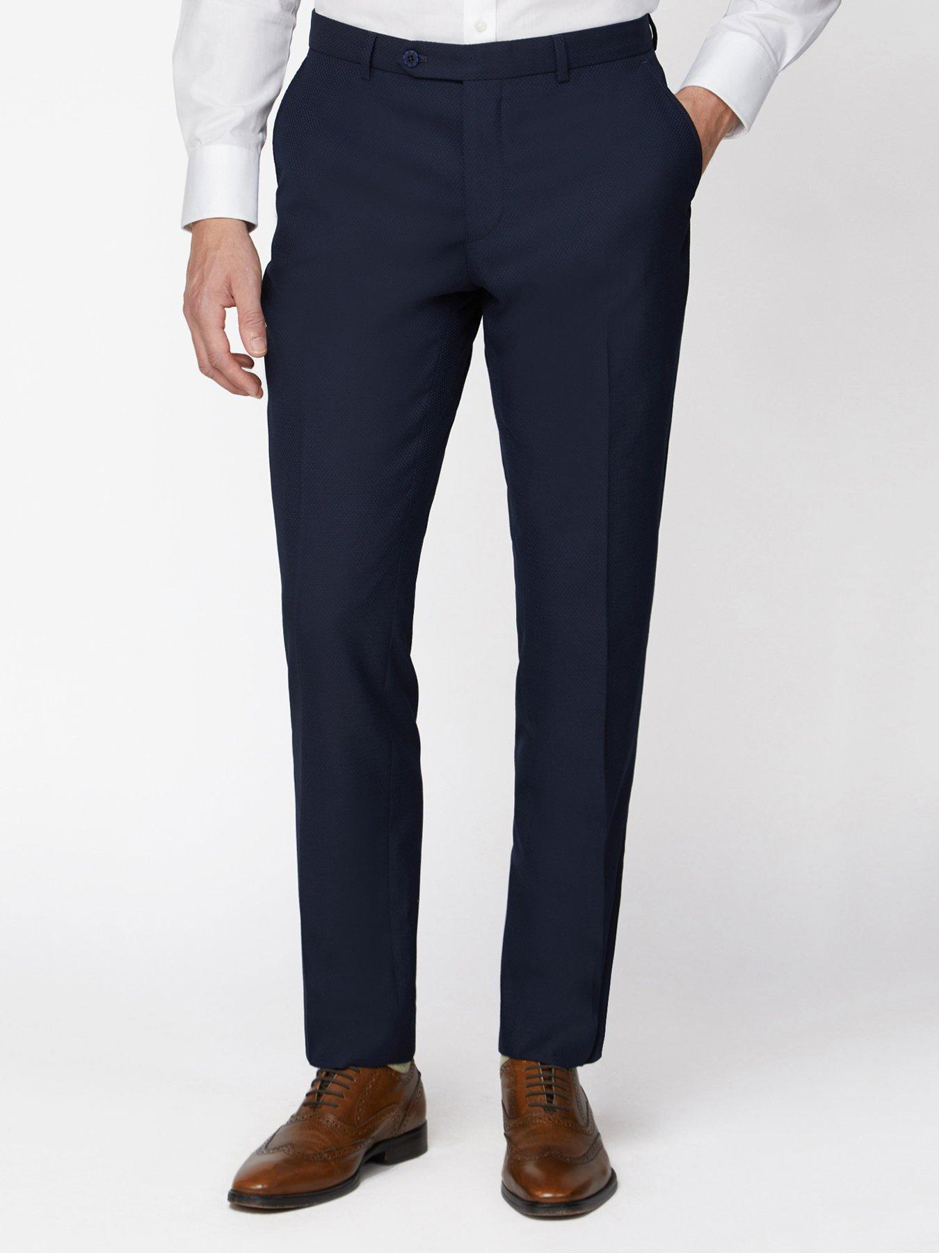 Jeff Banks Mens Blue Suit Trouser in 28R to 48R Outlet