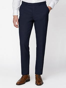 jeff banks jeff banks jacquard texture soho suit trousers in modern regular fit - navy