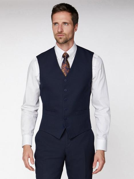 jeff-banks-jacquard-texture-soho-waistcoat-navy
