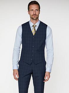 jeff-banks-jeff-banks-check-soho-waistcoat-in-modern-regular-fit-blue