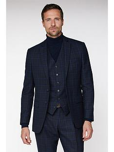 jeff-banks-jeff-banks-jaspe-check-ivy-league-suit-jacket-in-slim-fit-blue