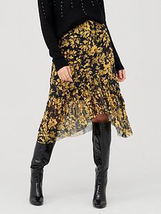 v-by-very-floral-mesh-belted-midi-skirt-yellowblacknbsp