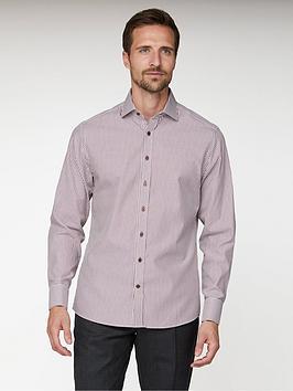 jeff-banks-dobby-stripe-tailored-fit-shirt-burgundy