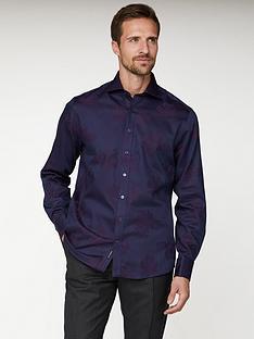 jeff-banks-floral-jacquard-tailored-fit-shirt-purple