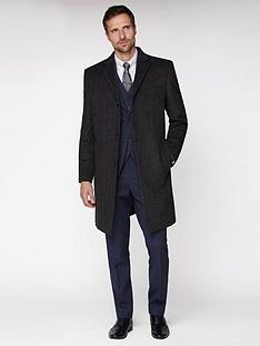 jeff-banks-jeff-banks-grey-textured-overcoat-tailored-fit