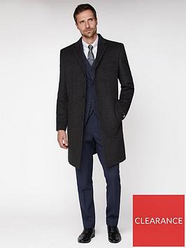 jeff-banks-jeff-banks-grey-textured-overcoat-tailored-fit