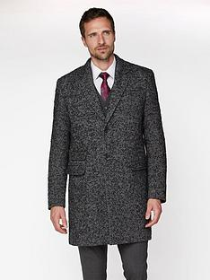 jeff-banks-chunky-wool-herringbone-overcoat-grey