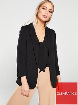 wallis-ribbed-ponte-jacket-black