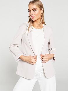 wallis-ribbed-ponte-jacket-stone