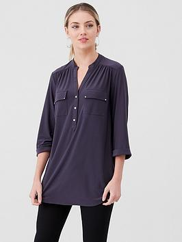 wallis-ity-jersey-button-shirt-grey