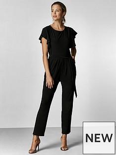 wallis-petite-frill-sleeve-jumpsuit