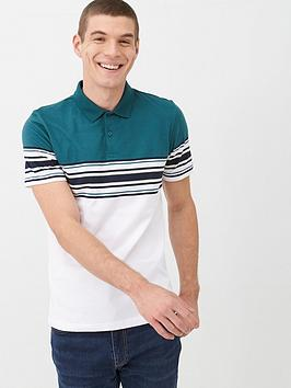 very-man-multi-placement-stripe-polo-shirt-teal