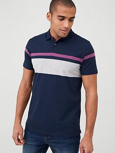 v-by-very-placement-block-stripe-polo-shirt-navy