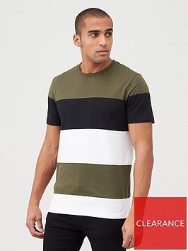 v-by-very-block-stripe-t-shirt-khaki