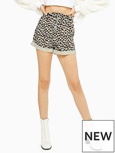 topshop-topshop-leopard-paperbag-denim-shorts-multi