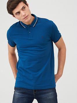 v-by-very-tipped-pique-polo-top-blue